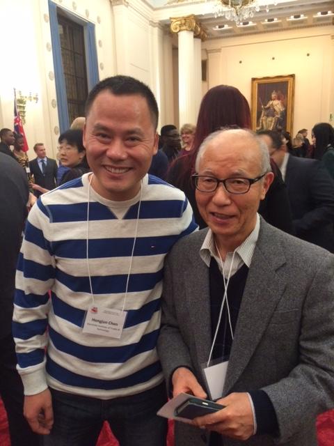 Yoshida with fellow student